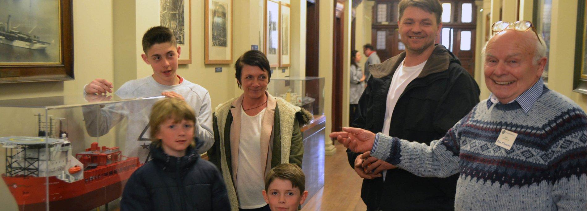 Fairfield Volunteer speaks to visitors